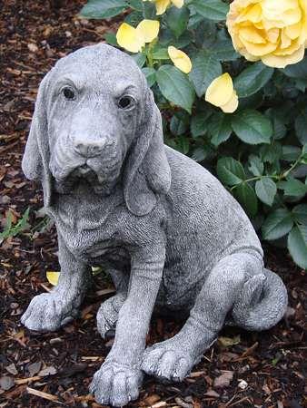 Bloodhound - Hundefigur als Gartendeko