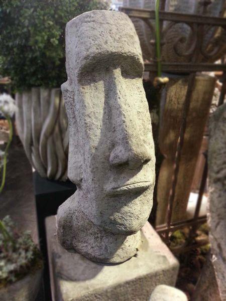 Moai Kopf aus Steinguss