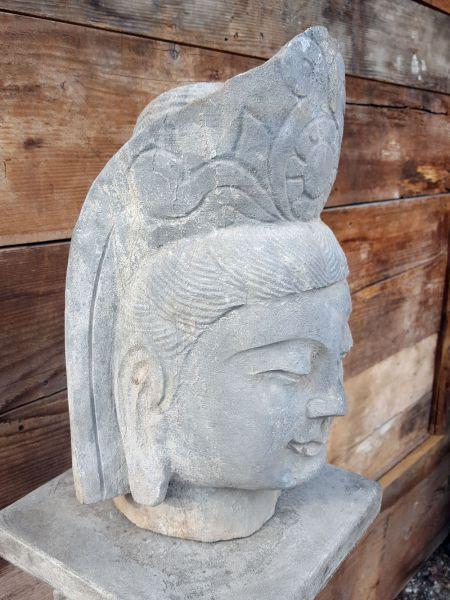 Buddhakopf Büste aus Stein