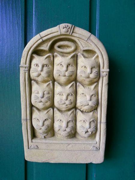 Wandbild ' Neunmalschlaue Katzen ' aus Lavaguss