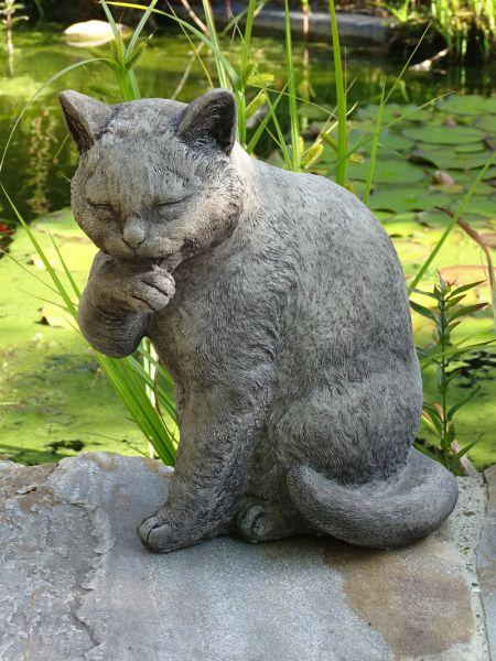 Steinfigur Katze