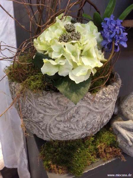 Flower Pot Übertopf Pflanztopf aus Steinguss